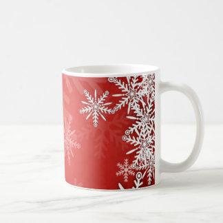 Christmas snowflakes mugs