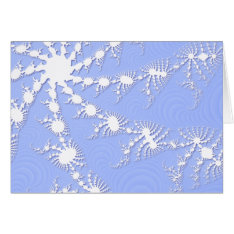 Christmas Snowflakes On Frosty Blue Christmas Card at Zazzle