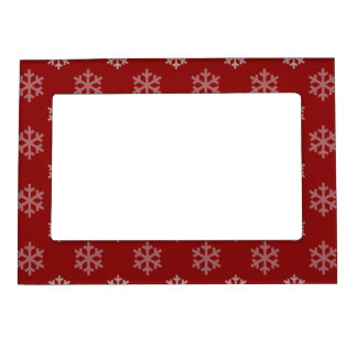 Christmas Snowflakes Pattern Magnetic Photo Frame
