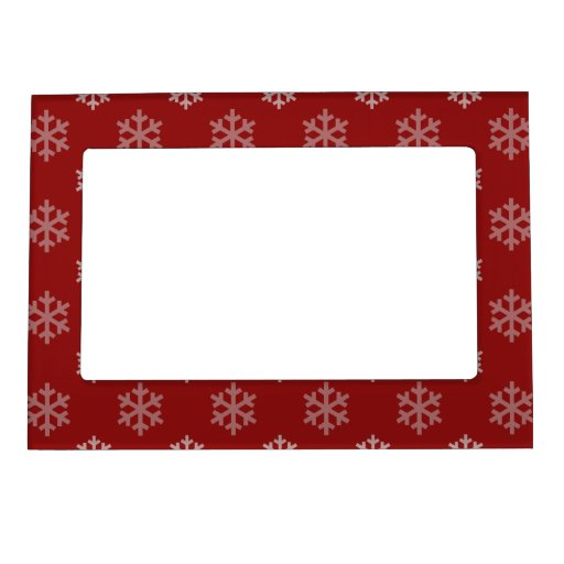 Christmas Snowflakes Pattern Picture Frame Magnet Zazzle