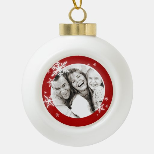 Christmas Snowflakes Personalized Photo ornament