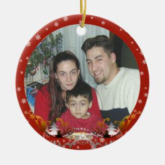 Christmas snowflakes photo Ornament