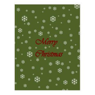 Christmas Snowflakes Postcard