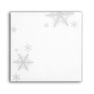 Christmas Snowflakes (Red) envelope