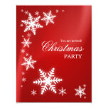 Christmas Snowflakes (Red) Party invitation