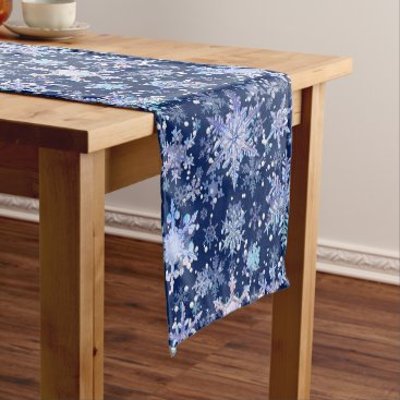 Professional Business Christmas snowflakes short table runner