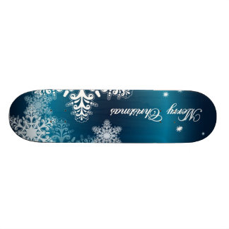Christmas Snowflakes Skateboard