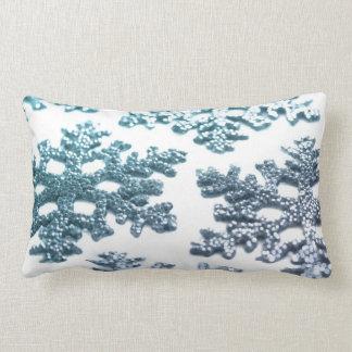Christmas snowflakes snow flake glitter cushion