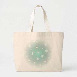 Christmas Snowflakes Tote Canvas Bag