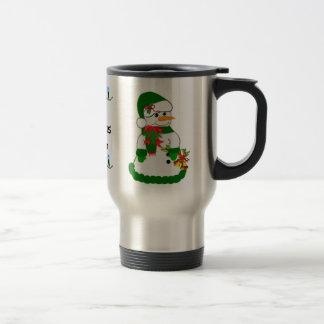 Christmas / Snowman #17 Travel Mug