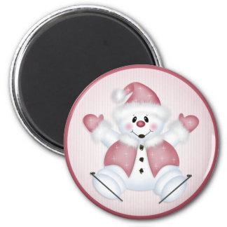 Christmas Snowman 36 Christmas/Holiday 2 Inch Round Magnet