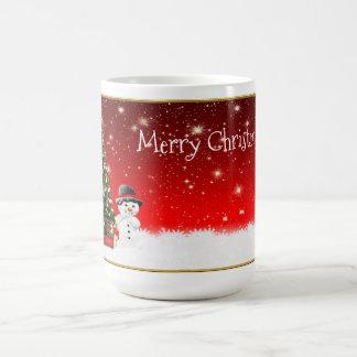 Christmas Snowman and Christmas Tree Magic Mug