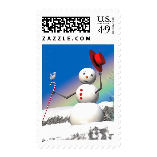 Christmas Snowman and Friend Stamps