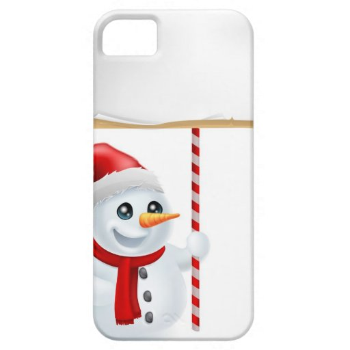 Christmas Snowman and Sign iPhone 5 Case