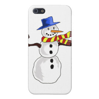 Christmas Snowman Art iPhone SE/5/5s Cover