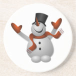 Christmas Snowman Beverage Coaster