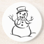 Christmas Snowman Beverage Coasters