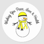 Christmas Snowman Bladder Cancer Ribbon Sticker