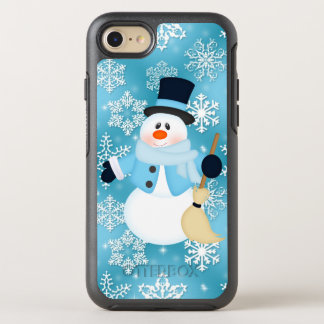 Christmas snowman blue snowflake 7 otterbox OtterBox symmetry iPhone 7 case