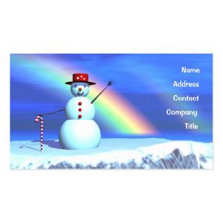 Christmas Snowman - Business Business Card