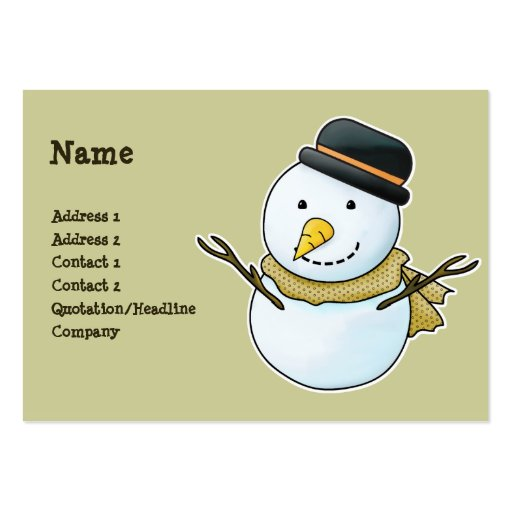 Christmas Snowman Business Card