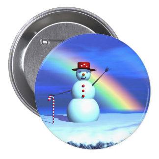 Christmas Snowman Pinback Button