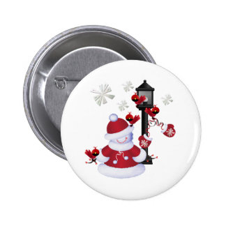 Christmas Snowman Pins