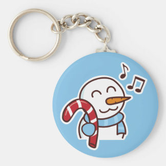 Christmas snowman candy Keychain