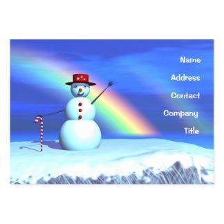 Christmas Snowman - Chubby Large Business Card