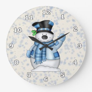 Christmas Snowman clock