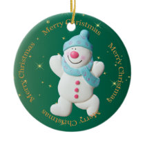 Christmas Snowman cute holiday tree ornament