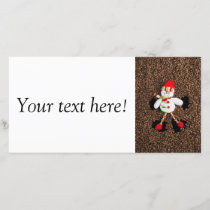 Christmas snowman decoration holiday card