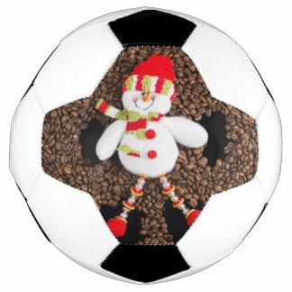 Christmas snowman decoration soccer ball