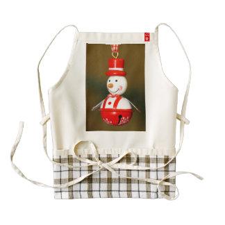 Christmas snowman decoration zazzle HEART apron