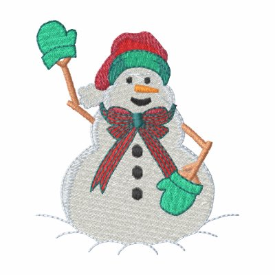 Christmas Snowman Embroidered Hoody