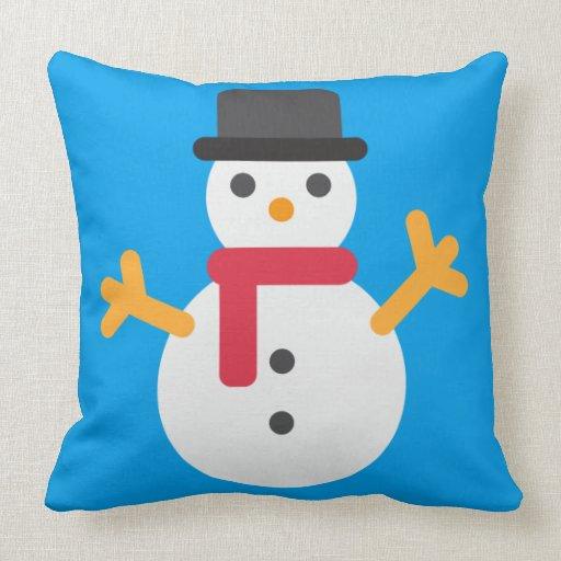 Throw Pillows Elegant : christmas snowman emoji throw pillow Zazzle