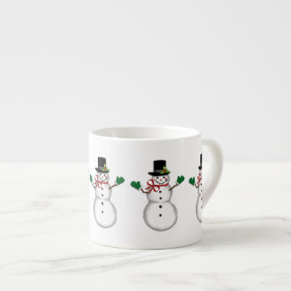 Christmas Snowman Espresso Cup