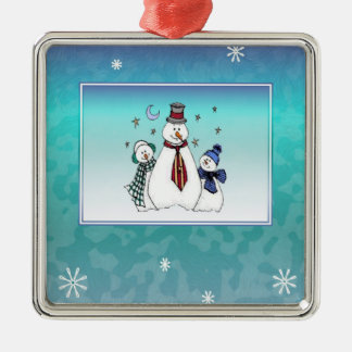 Christmas Snowman Family Ornament