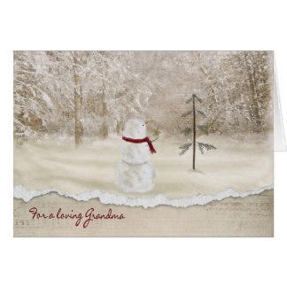 Christmas snowman for Grandma Card