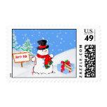 Christmas, Snowman, Gift, Snow Postage