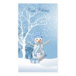 Christmas Snowman gift tag Business Card.