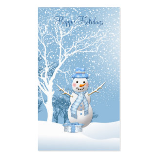 Christmas Snowman gift tag Business Card. Business Card