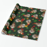 "Christmas Snowman Glossy wrapping paper<br><div class=""desc"">design by Darq Illusions</div>"