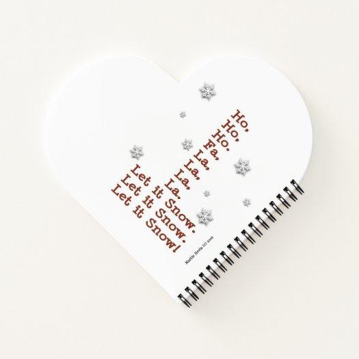 Christmas Snowman (Heart-Shaped) Spiral Notebook