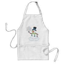 Christmas Snowman Holiday cartoon apron