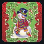 """Christmas snowman Holiday fun sticker<br><div class=""""desc"""">design by Barry at www.psptubez.com back by originalartwork@delightful-doodles.com</div>"""