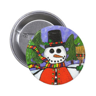Christmas Snowman - Holiday Magic button