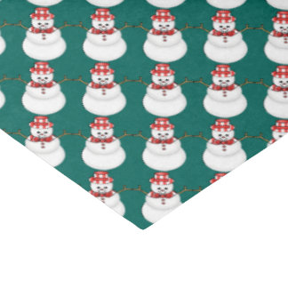 "Christmas snowman Holiday tissue paper 15"" X 20"" Tissue Paper"