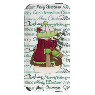 Christmas snowman Holiday word art iPhone 6/6s Wallet Case