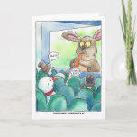 """Christmas:  Snowman Horror Film Holiday Card<br><div class=""""desc"""">Celebrate the season with this cheerful design from Happy Dapper.</div>"""